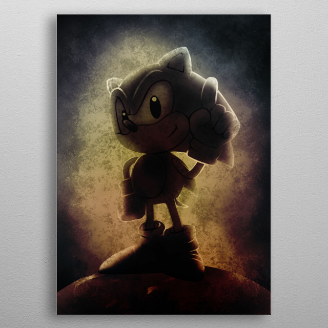 Sonic Fan art metal poster