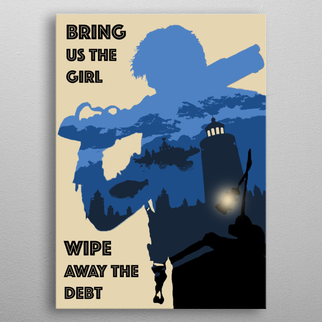 Bioshock Infinite Retro Game Poster metal poster