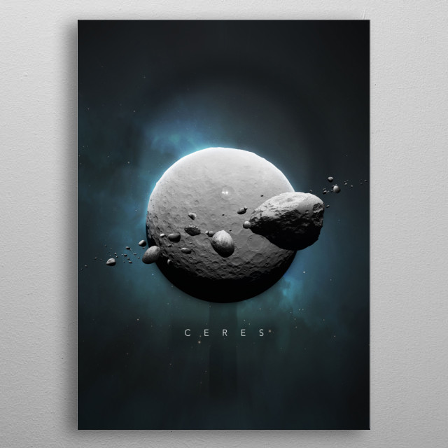 A Portrait of the Solar System: Ceres metal poster