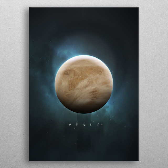 A Portrait of the Solar System: Venus metal poster