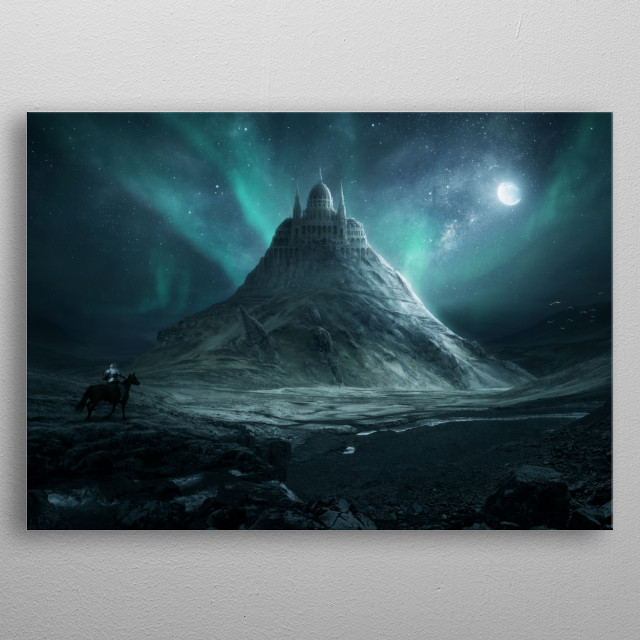 High-quality metal print from amazing Forgotten World collection will bring unique style to your space and will show off your personality. metal poster