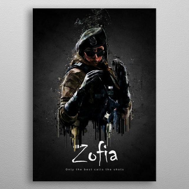 Zofia metal poster