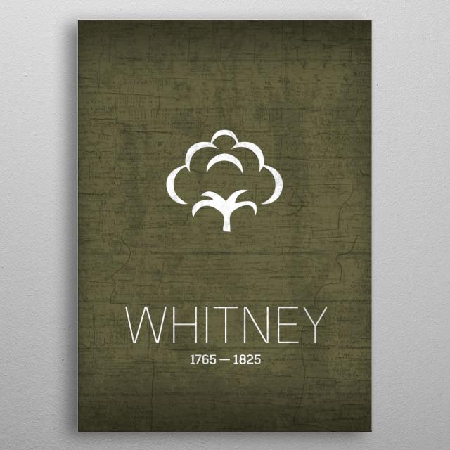 Eli Whitney The Inventors Series No 019 metal poster