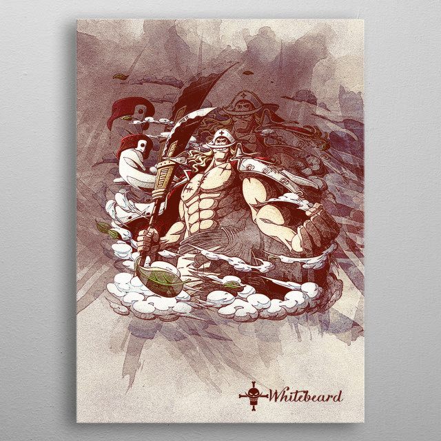 WHITEBEARD metal poster