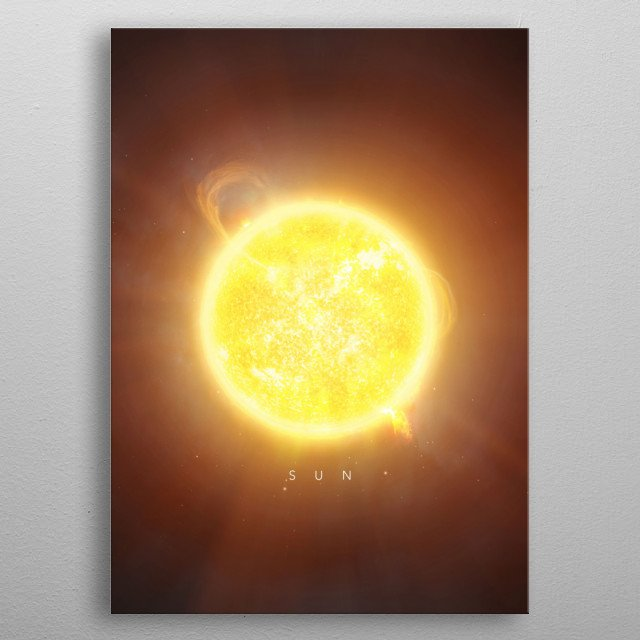 A Portrait of the Solar System: Sun metal poster