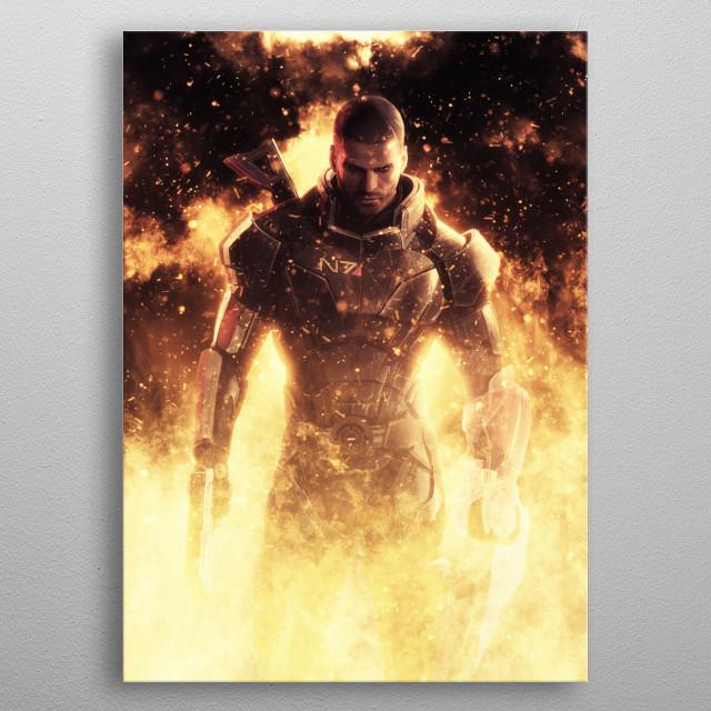 Commander Shepard metal poster