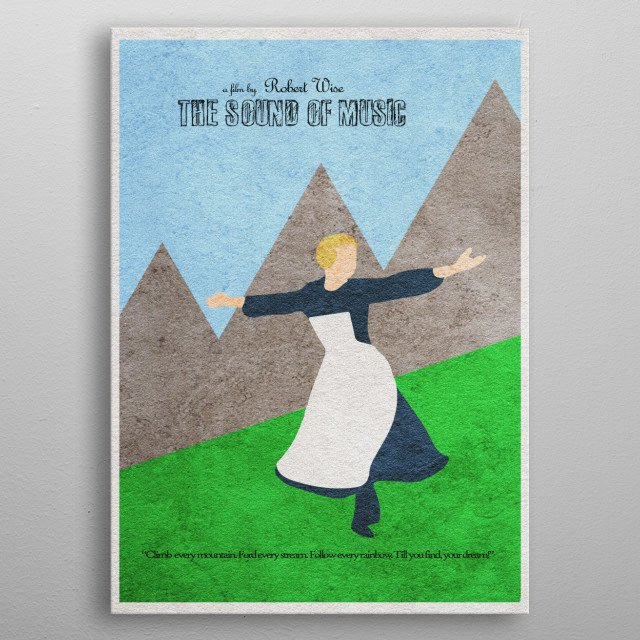 The Sound of Music Minimalist Movie Poster metal poster