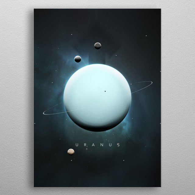 A Portrait of the Solar System: Uranus metal poster
