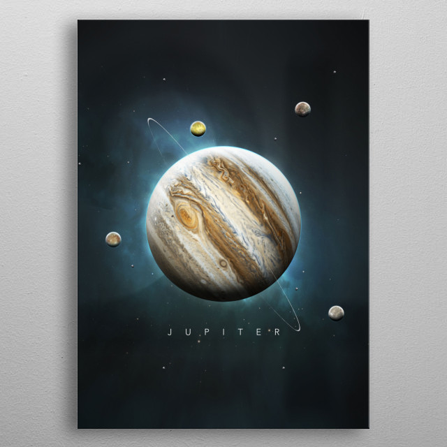 A Portrait of the Solar System: Jupiter metal poster