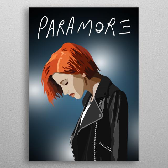 Paramore metal poster