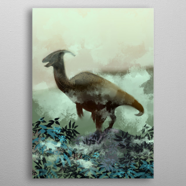 Parasaurolophus metal poster