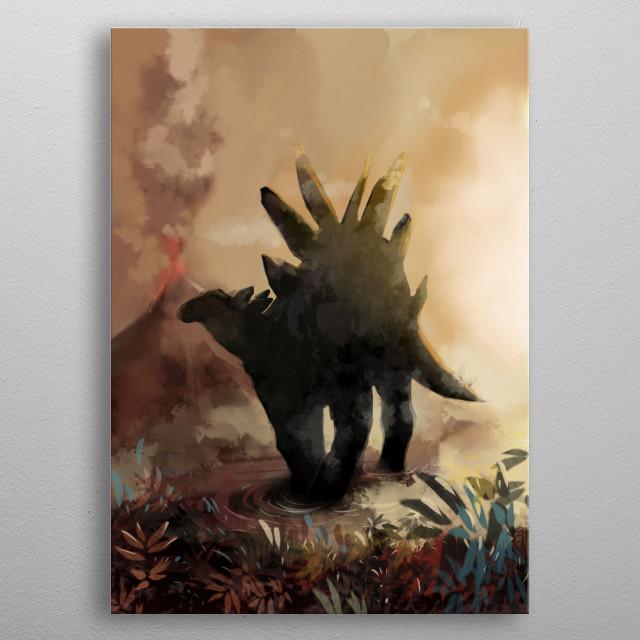 Stegosaurus metal poster