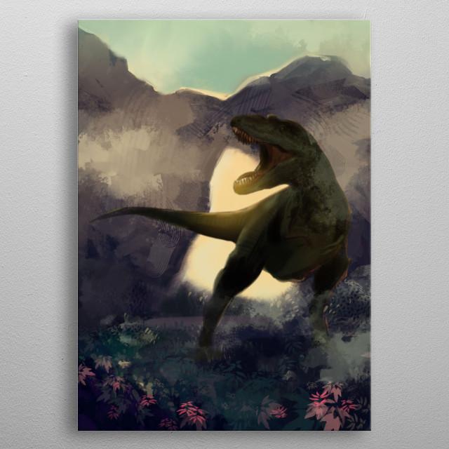 Tyrannosaurus Rex metal poster