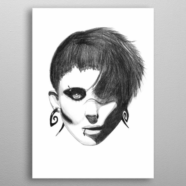 Dragon Girl metal poster