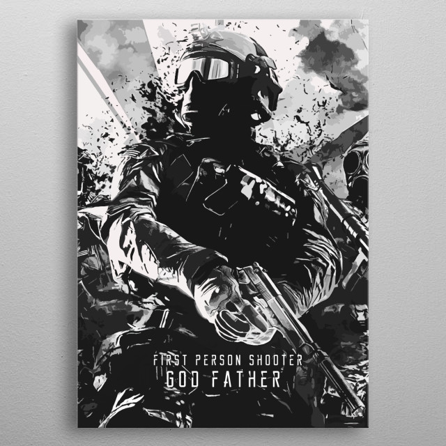 God Father of Shooter Games metal poster