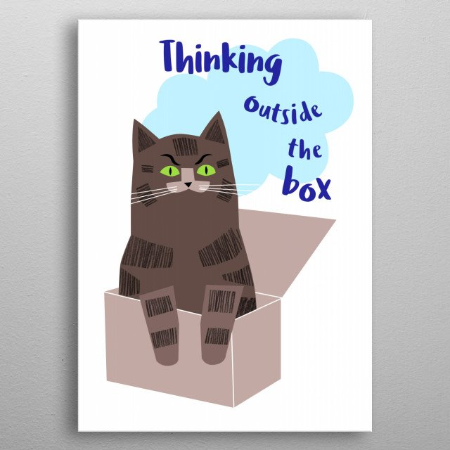 Outside the Box metal poster