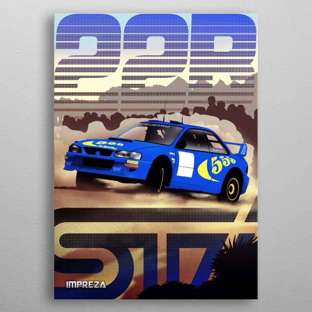 Subaru STI metal poster