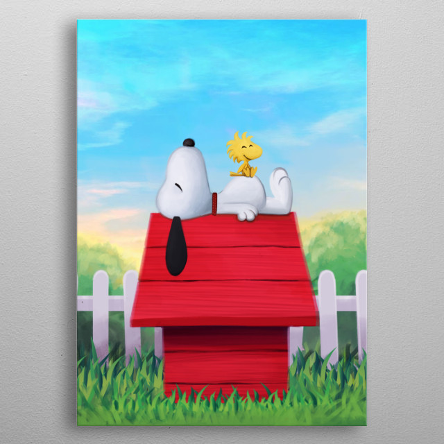 Snoopy metal poster