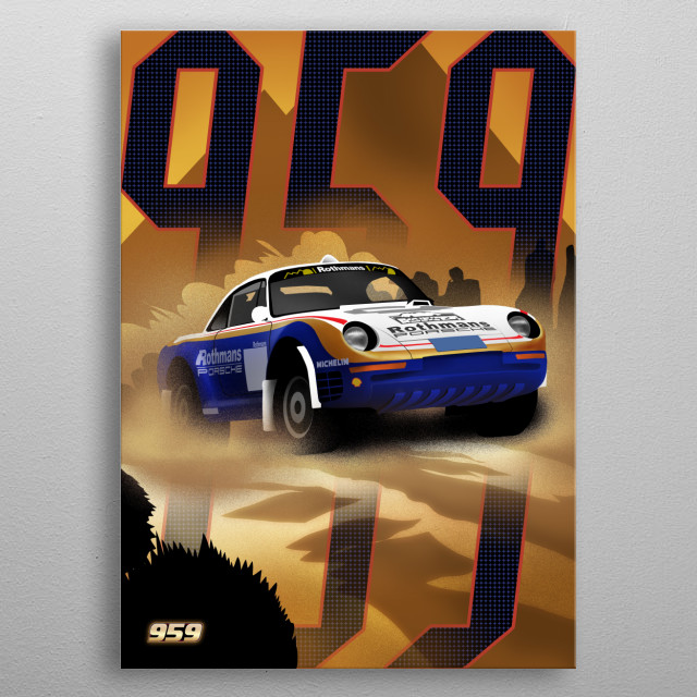 Porshe 959 metal poster