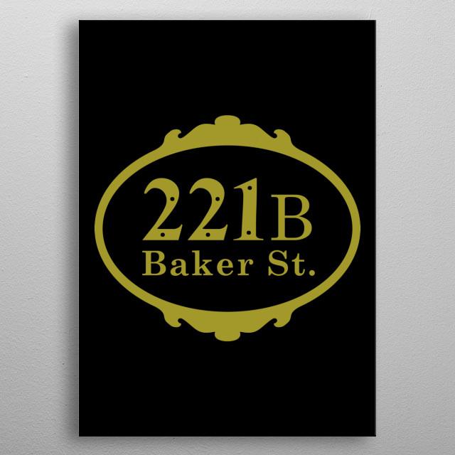 221b Baker Street metal poster