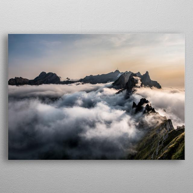 Swiss Mountains metal poster