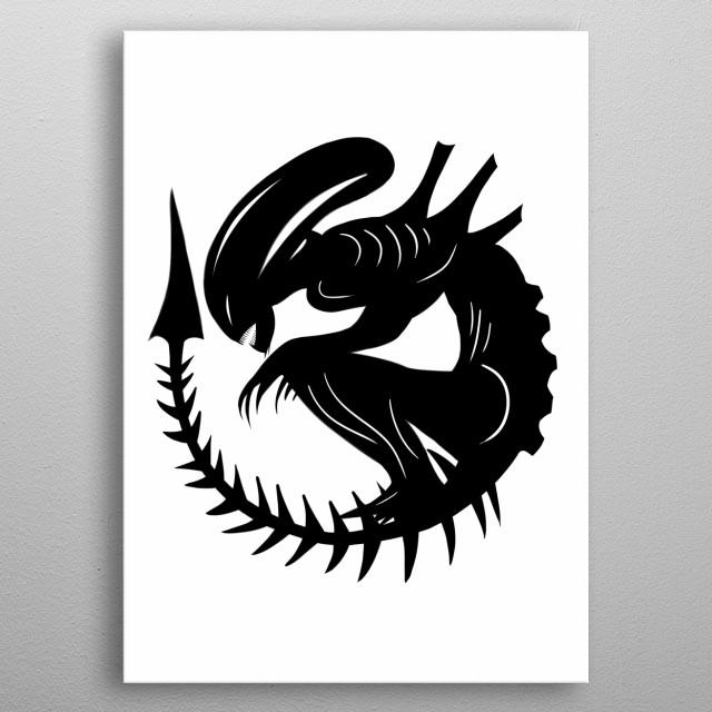 Alien metal poster