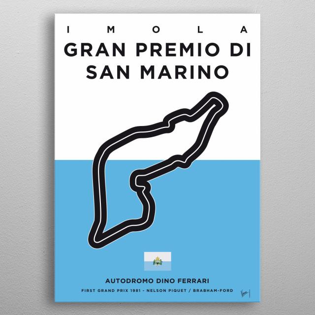 My F1 IMOLA Track Minimal Poster metal poster