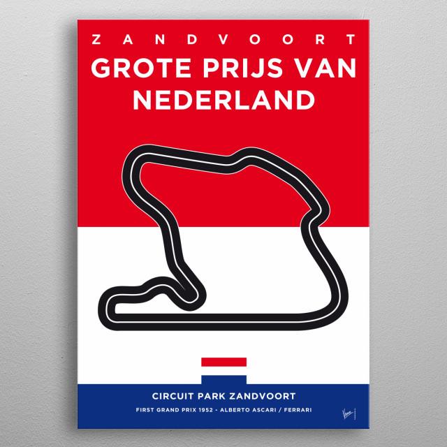 My F1 ZANDVOORT Race Track Minimal Poster metal poster