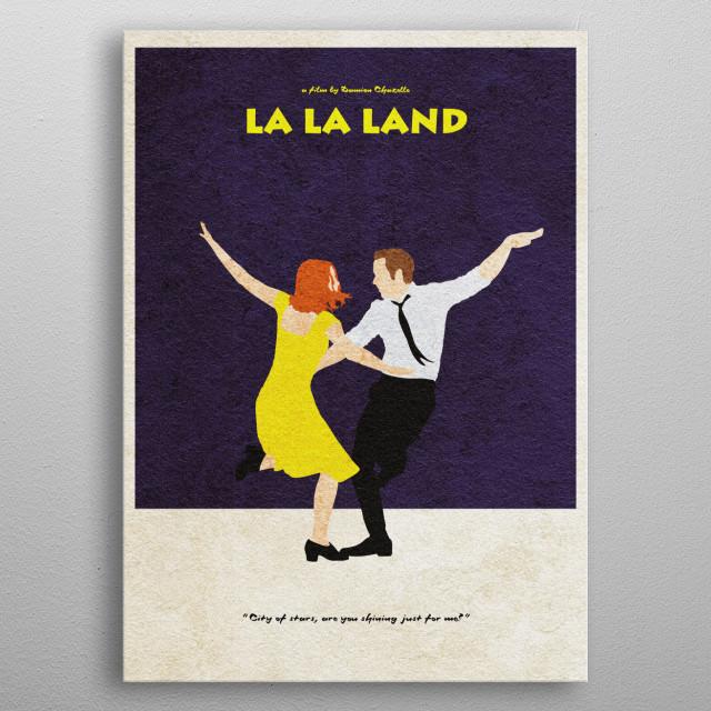 La La Land Minimal and Alternative Movie Poster metal poster