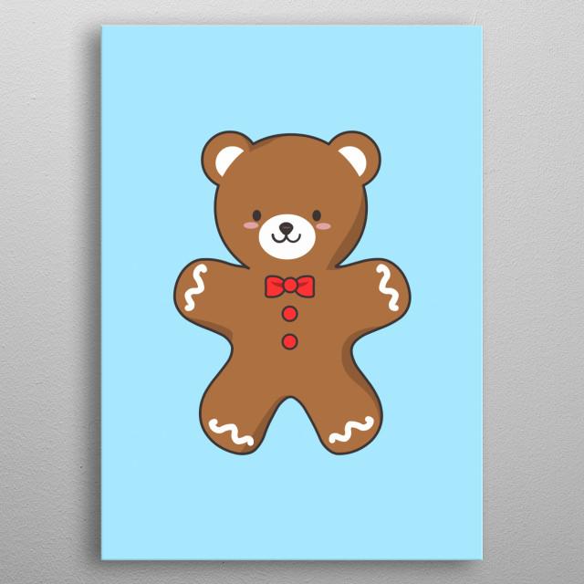 Ginger-Bear Cookie metal poster