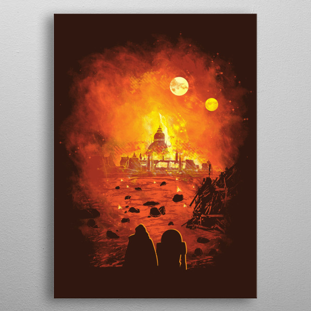 Rise From The Ashes metal poster