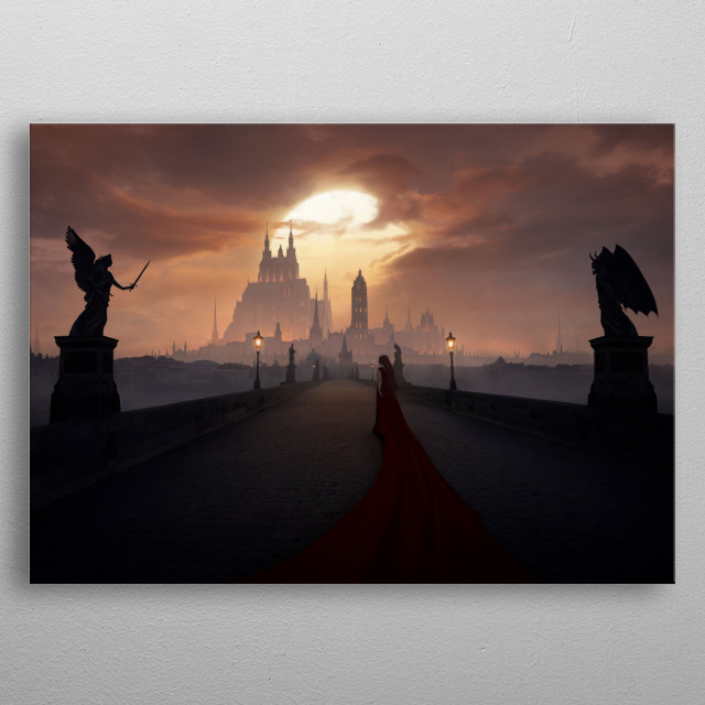 Of Angels and Demons metal poster