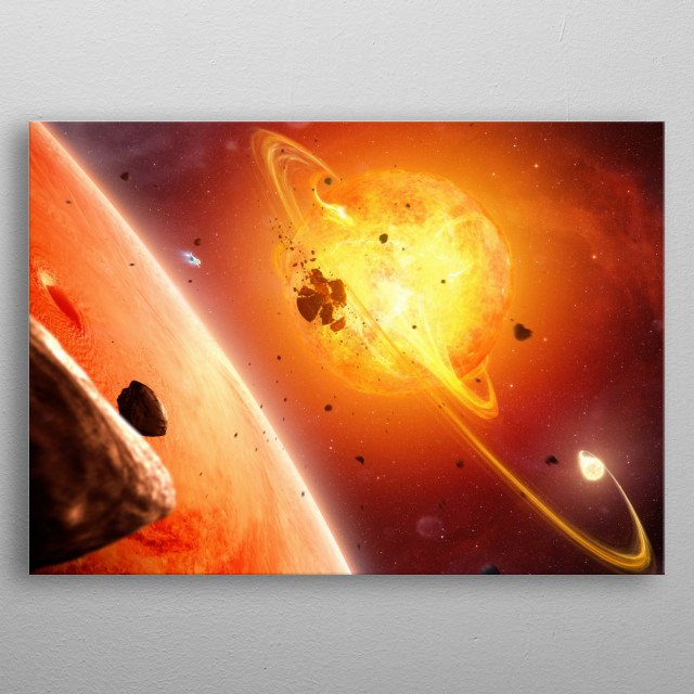 High-quality metal print from amazing Space And Scifi collection will bring unique style to your space and will show off your personality. metal poster