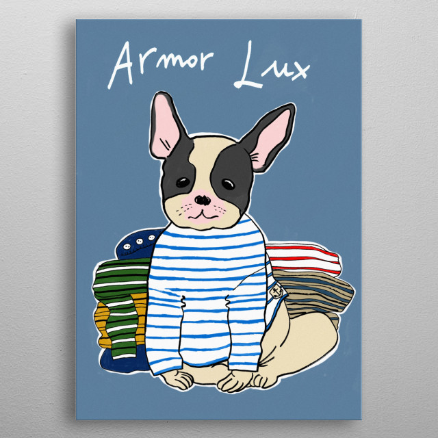 Armor Lux metal poster