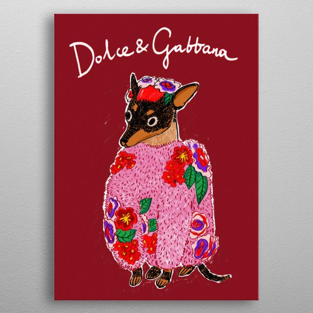Dolce & Gabbana metal poster