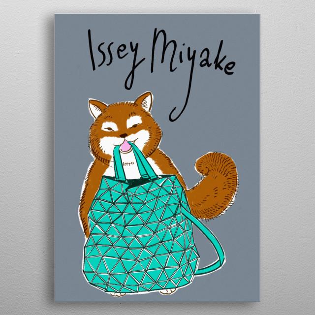 Issey Miyake metal poster