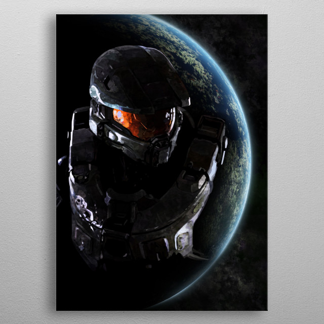 Master Chief ~ Halo 5 metal poster