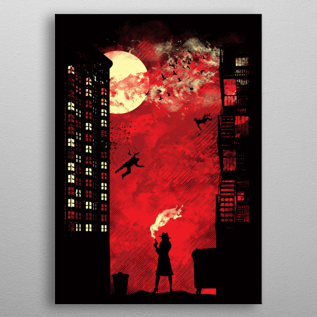 Fascinating metal poster designed by Dale Hutchinson. Displate has a unique signature and hologram on the back to add authenticity to each design. metal poster