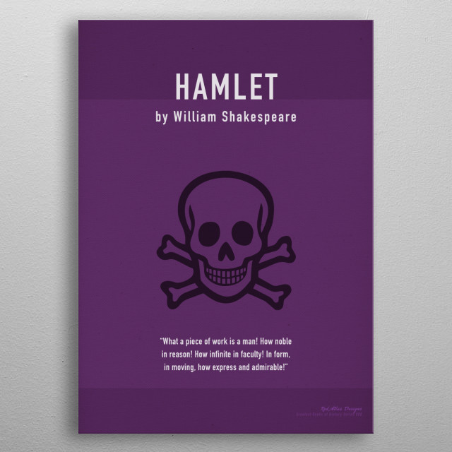 Hamlet Greatest Books Series 008 metal poster