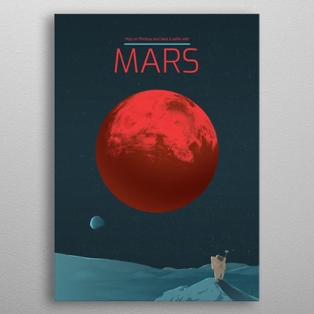 Mars metal poster
