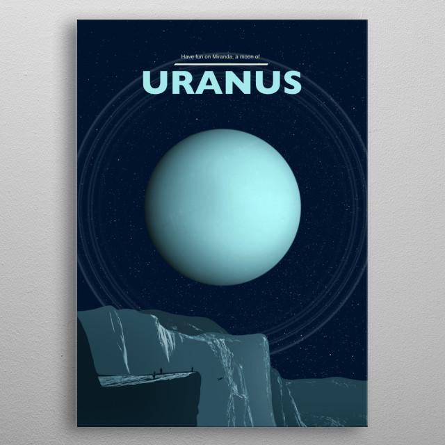 Uranus metal poster