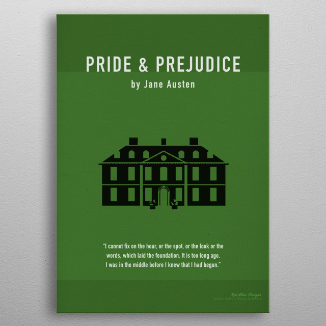 Pride and Prejudice Greatest Books Series 016 metal poster