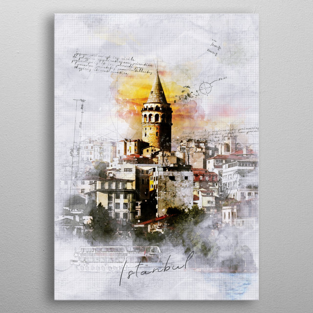 Fascinating metal poster designed by TraXim Design. Displate has a unique signature and hologram on the back to add authenticity to each design. metal poster