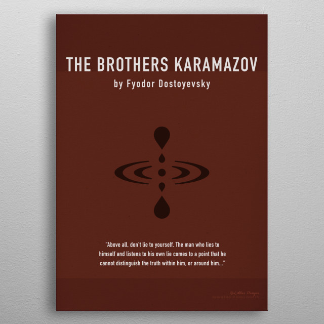 The Brothers Karamazov Greatest Books Series 015 metal poster