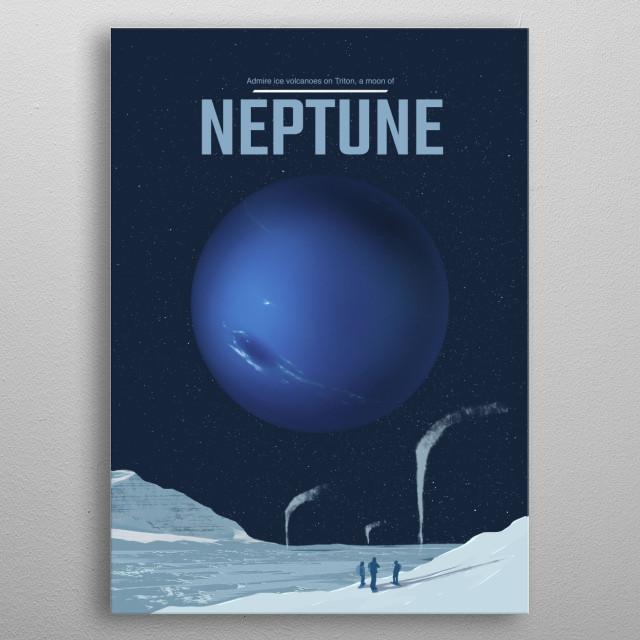 Neptune metal poster