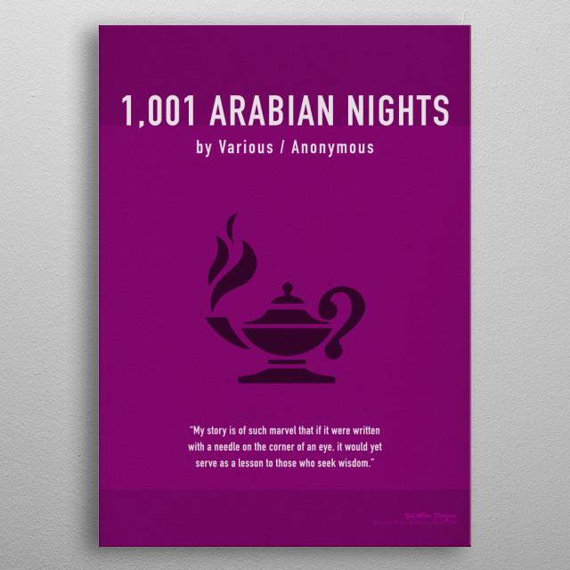 1,001 Arabian Nights Greatest Books Series 030 metal poster