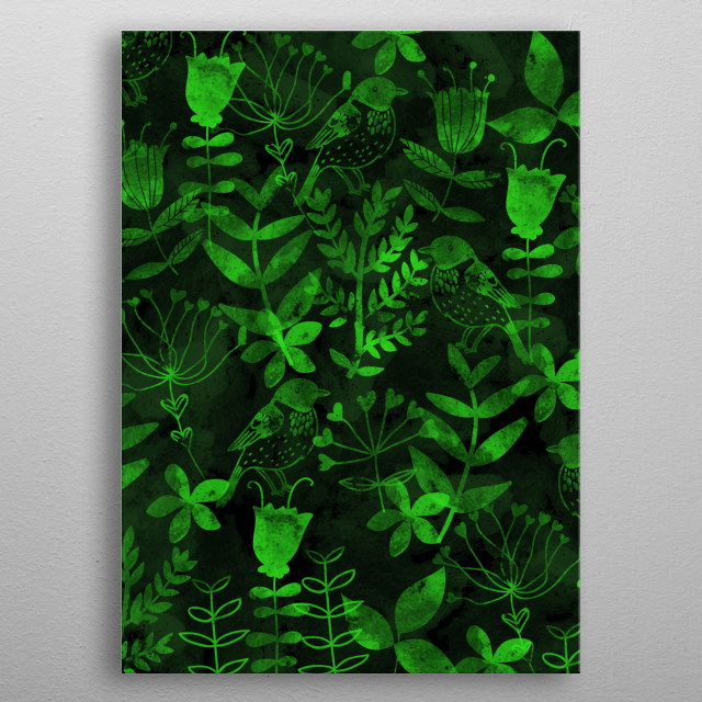 Abstract Botanical Garden metal poster