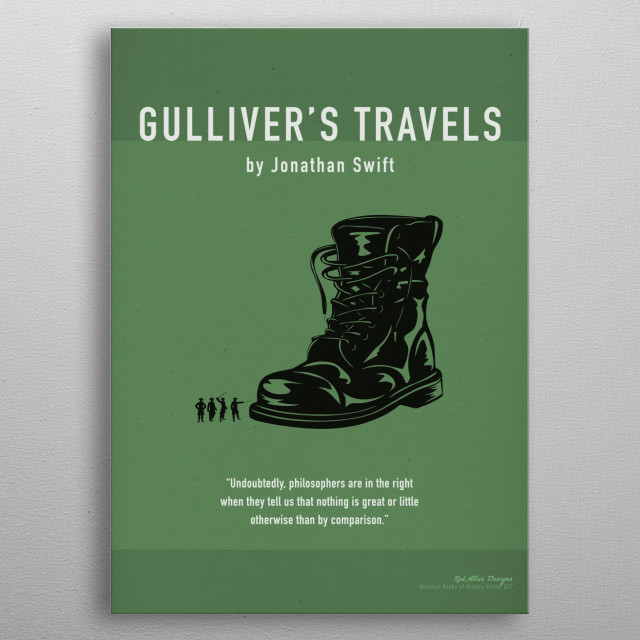 Gulliver's Travel's Greatest Books Series 027 metal poster