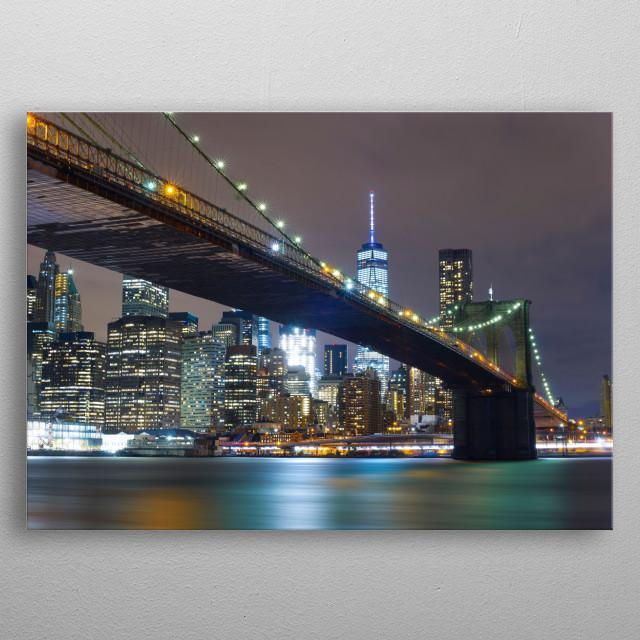 Brooklyn bridge, New York metal poster