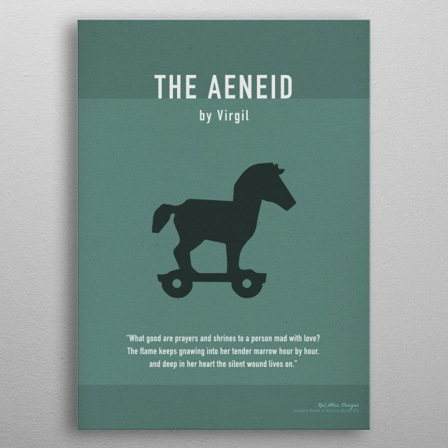 High-quality metal print from amazing Greatest Books Of All Time Minimal Art Series collection will bring unique style to your space and will show off your personality. metal poster